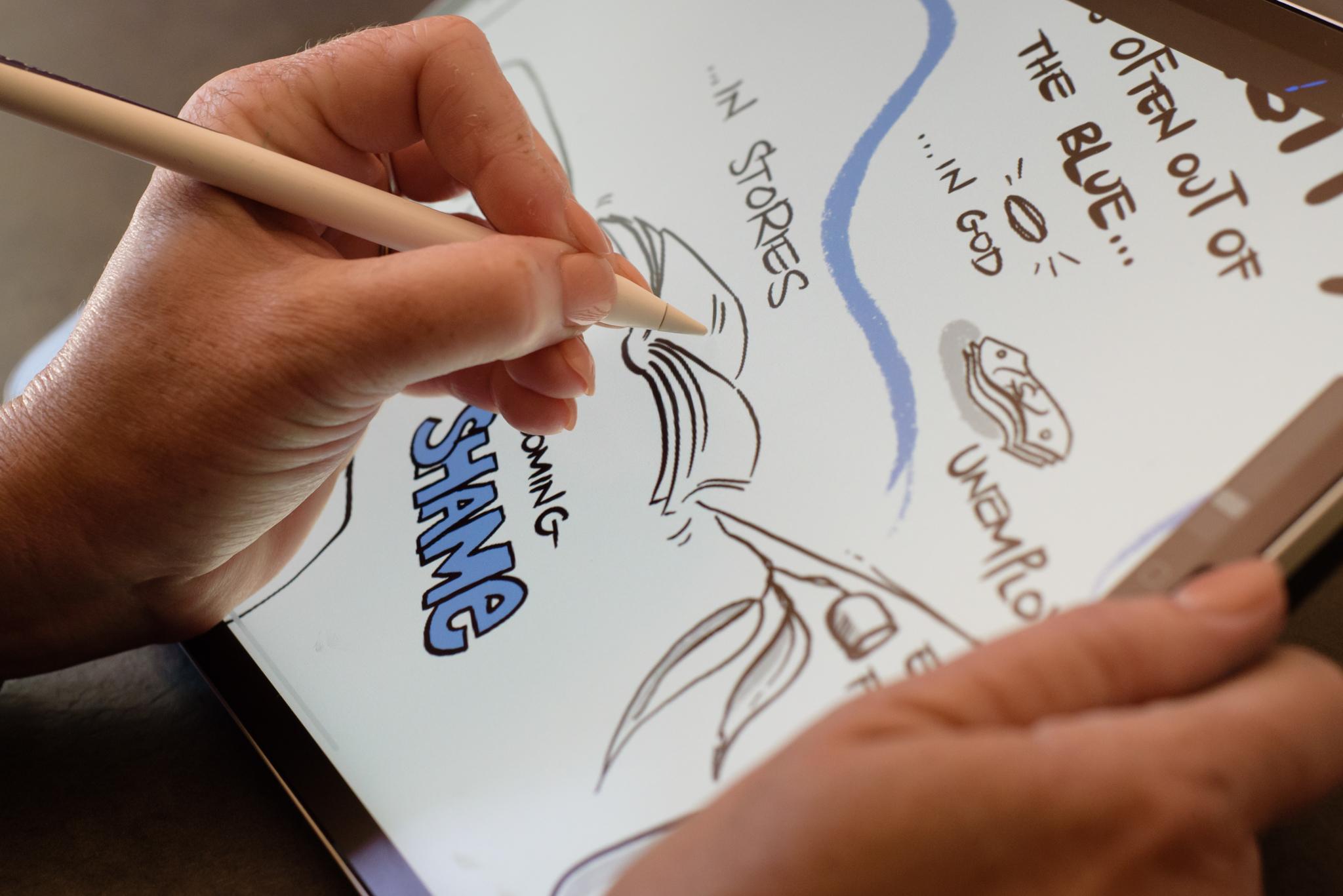 Graphic Recording digitally on iPad Pro